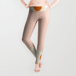 Abstraction_SUN_LINE_FLORAL_BLOSSOM_ART_Minimalism_001A Leggings
