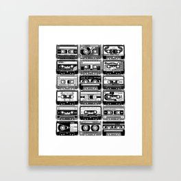 Mix Tapes Framed Art Print