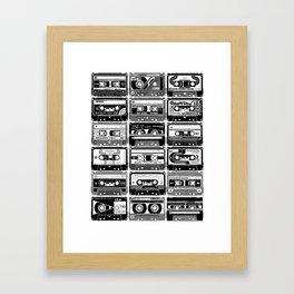 Mix Tapes Framed Art Print