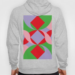 Two red squares and a Squared hole Hoody