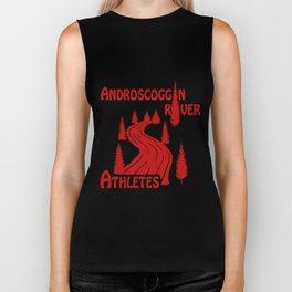 ARA Logo - Red on White Biker Tank