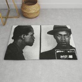 Malcolm X Mugshot Rug