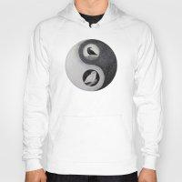 yin yang Hoodies featuring  Yin & Yang  by Owl Art Suri