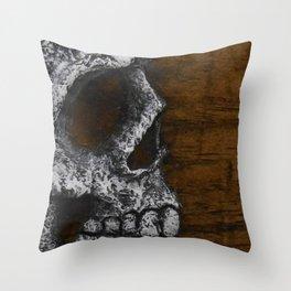 Profile Skull Throw Pillow