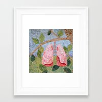 biology Framed Art Prints featuring Biology: Lungs by Textility