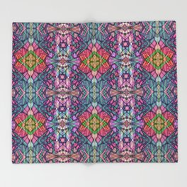 Fractal Art Stained Glass G311 Throw Blanket