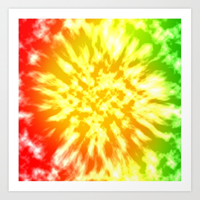 Reggae Tie Dye 1 Art Print by kirstenrenfroephotography