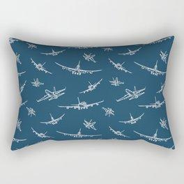 Airplanes on Navy Rectangular Pillow