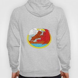 American Bully Dog Fighting Satan Drawing Hoody