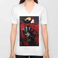 spawn V-neck T-shirts featuring Spawn by Shawn Norton Art
