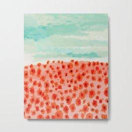 Poppies Field Metal Print