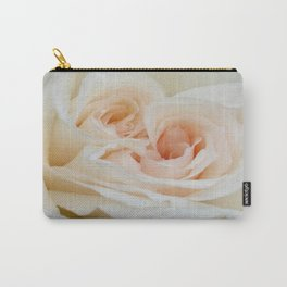 Close Up View Of A Beautiful White Rose Carry-All Pouch