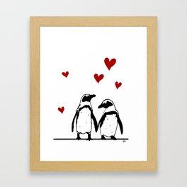 Love Penguins Framed Art Print