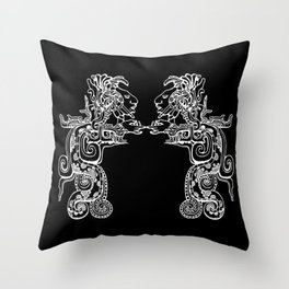 Maya Serpent Black Throw Pillow