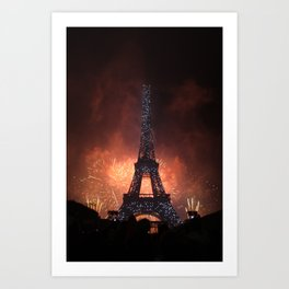 As France Celebrates Their Nation's Birthday Art Print