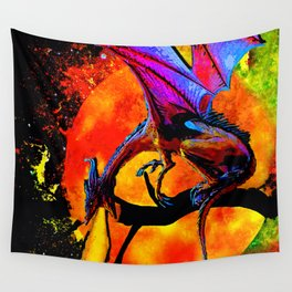 DRAGON FIRE HARVEST MOON DREAM Wall Tapestry