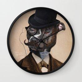 Pitbull Dog Art - Murphy of Cork Wall Clock