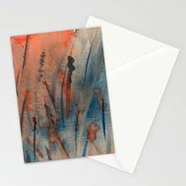 Abstract Marshy Wetlands Landscape Stationery Cards