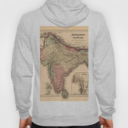 Map Of India 1857 Hoody