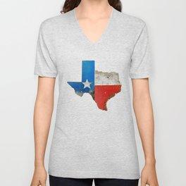 Rustic Texas Sign Unisex V-Neck