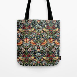Strawberry Thief by William Morris 1883 Antique Vintage Pattern CC0 Spring Summer Tote Bag