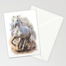 White Horse Gallop Stationery Cards