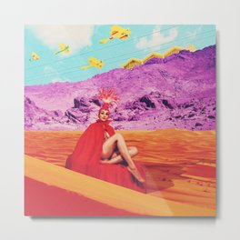 they found the lost lady in red, oracle of the sands Metal Print