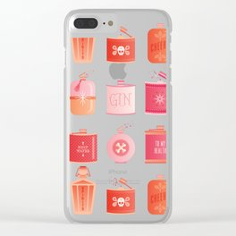 Flask Collection – Pink/Peach Ombré Palette Clear iPhone Case