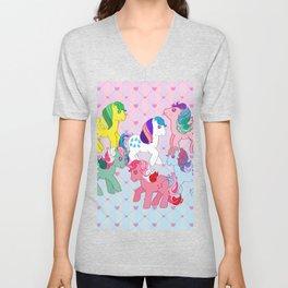 g1 my little pony twinkle eye ponies Unisex V-Neck
