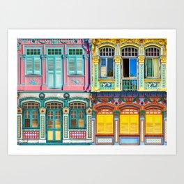 The Singapore Shophouse, Composite Art Print