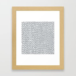 Hand Knit Zoom Grey Framed Art Print