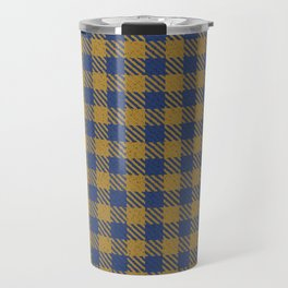 Abercrombie, Alpine, Resolution Blue, Camel, Plaid Travel Mug