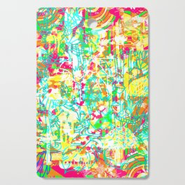 Tropical Poster Cutting Board