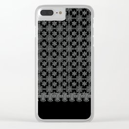 Charcoal and Black Spanish Lace Pattern Clear iPhone Case