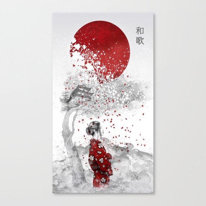 japanese poem canvas print by marineloup society6