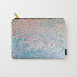 Peacock Water Marbling Carry-All Pouch
