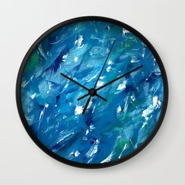 Sunlight on Lake Michigan Wall Clock