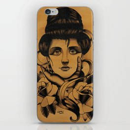 WOMAN and Roses - TATTOO iPhone Skin