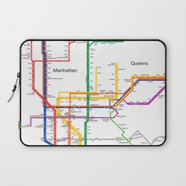 New York City subway map Laptop Sleeve