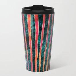 Pattern Play / Stripes on deep turquoise Travel Mug