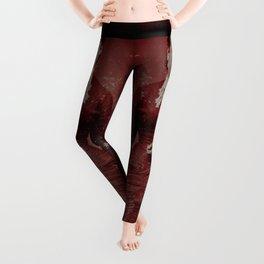 Woman in Red Leggings