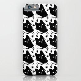 Cute black kitten iPhone Case