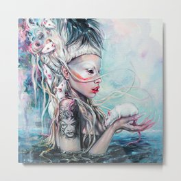 Yolandi The Rat Mistress 	 Metal Print