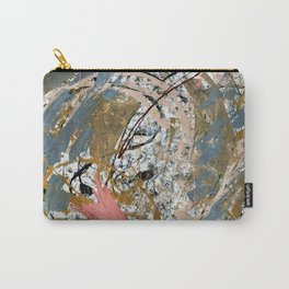 Symphony [2]: colorful abstract piece in gray, brown, pink, black and white Carry-All Pouch