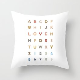 Letter Love - Color Throw Pillow