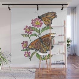 Monarch Butterflies Wall Mural