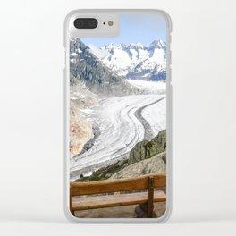 Aletsch Glacier in Switzerland Clear iPhone Case