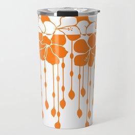 Bead Hibiscus Curtain: Ivory Orange Travel Mug
