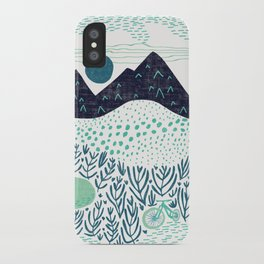 Mountain Biking - The Gravel Path Less Traveled iPhone Case