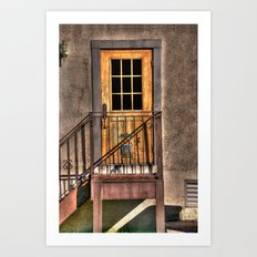 Back Door of the Winery Art Print